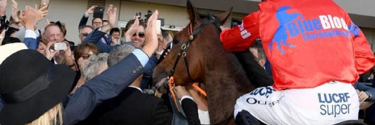 The thrill of your horse winning a Group 1 at the track.